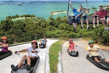 【新加坡】聖淘沙天際線斜坡滑車+空中吊椅--電子票