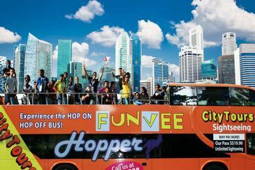 【新加坡】歡怡FUNVEE雙層觀光巴士一日通票(電子票)