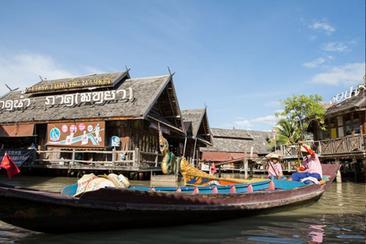 泰國芭堤雅四方水上市場門票(電子票)