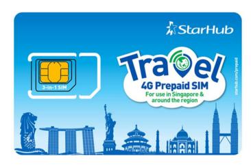 【新加坡上網電話卡】StarHub 7天Sim卡 500分鐘通話(樟宜機場領取)