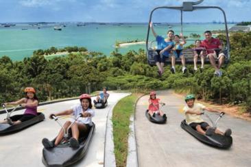 【新加坡之速度與激情】聖淘沙天際線斜坡滑車+空中吊椅