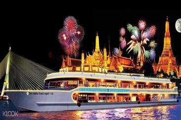 【曼谷】湄南河夜遊白蘭花號自助晚餐(含酒店接送)--電子票