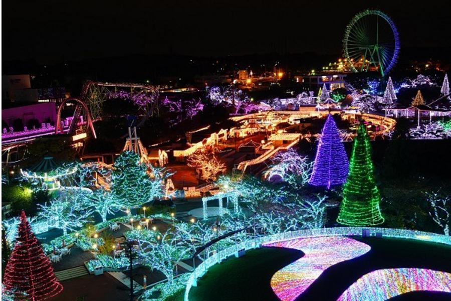 ★白色雙星光★寶石燈海.迪士尼.360度水晶宮.雪盆戲雪.箱根鐵道.溫泉5日