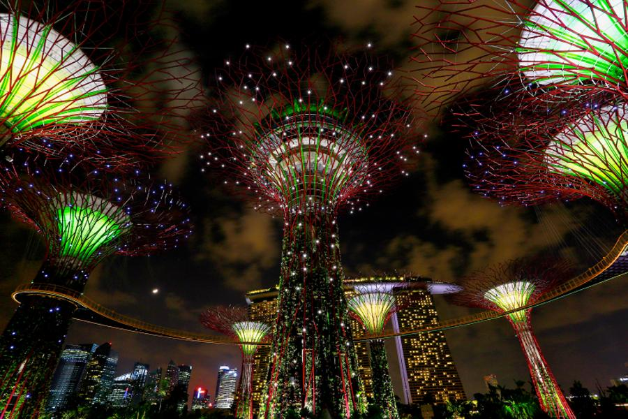 星光秀~【升等兩晚新加坡】夜遊濱海灣燈光秀+世界遺產植物園+環球影城+丹絨比艾國家公園 五日