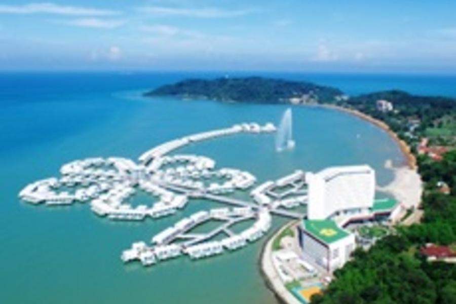 翻玩新馬~濱海灣金沙娛樂城、大紅花海上VILLA、環球影城、360度旋轉下午茶、吉隆坡5星酒店六日(新進~馬出)