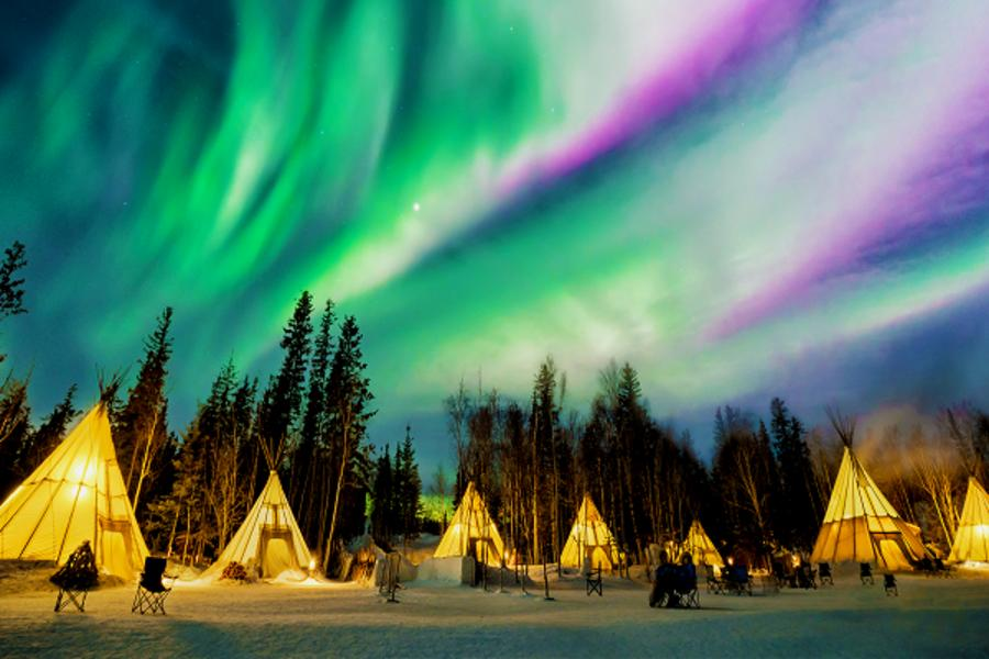 瘋玩美加~2017加拿大黃刀極光跨年7日《三晚極光‧狗拉雪橇‧冰原歷險》