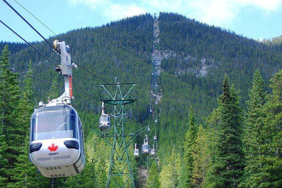 加拿大洛磯山~露易絲湖、迷你彩虹船、硫磺山纜車、 IMAX電影8日