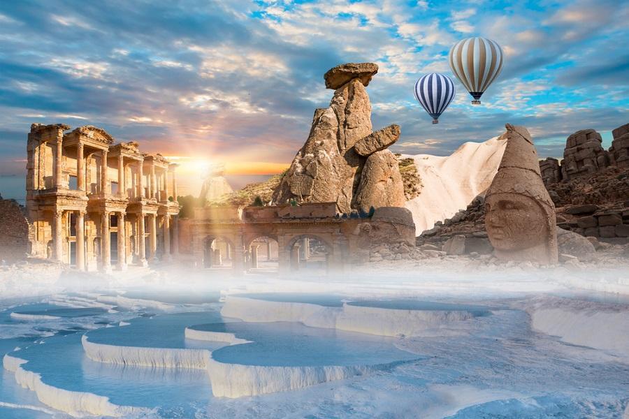 杜拜土耳其雙國、帆船饗宴、哈里發塔、品味酒莊、熱氣球、肚皮舞12日