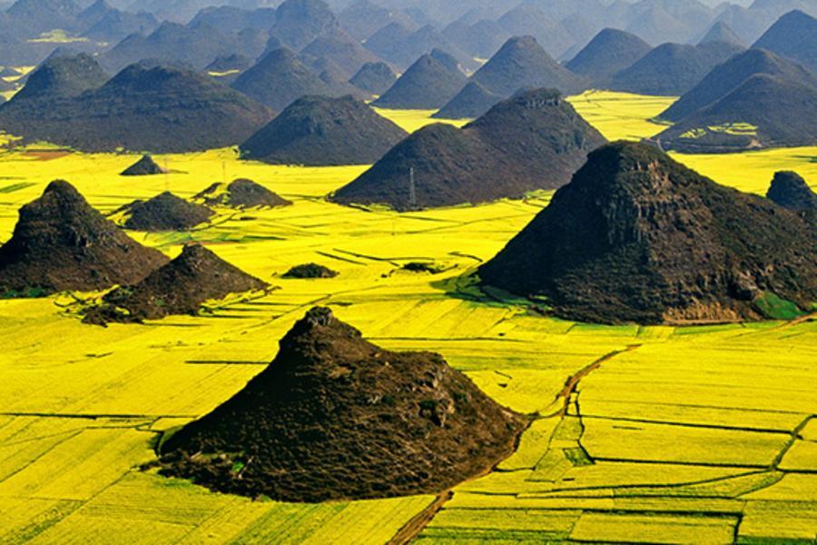 【上帝遺失的調色盤】東川紅土地彩色沙林、羅平油菜花元陽梯田雲南印象八日