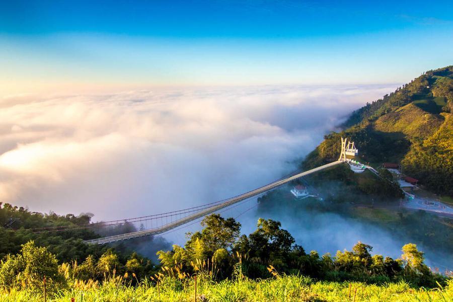 嘉義太平雲梯雲之南道、富摩咖啡莊園DIY、台南七股安平漫遊美食二日
