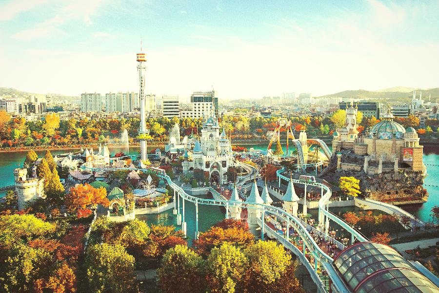 【線上旅展省3%】哈韓樂天世界、水族館、冰雪樂園、香草島樂園5日