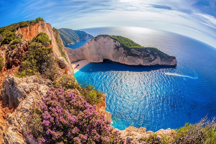 【旗艦典藏】希臘5晚五星、米其林一星、 愛情海3島、扎⾦索斯藍洞12⽇