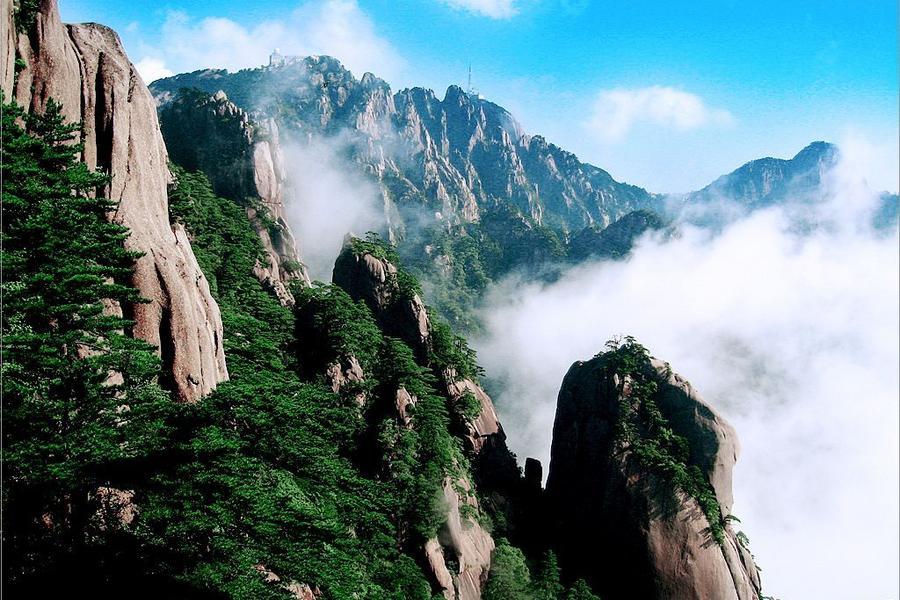 水墨黃山美景、宏村、徽州文化5日(山上乙晚)