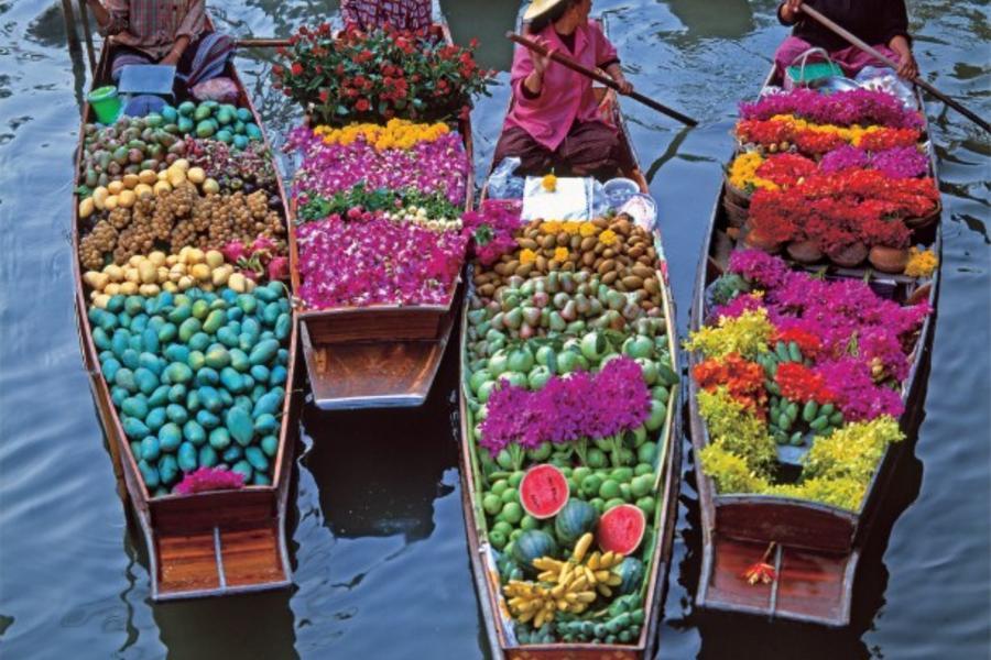 泰愛你~帝王蟹海鮮吃到飽、丹能沙朵水上市場、爆笑鐵支路、亞洲夜市五日