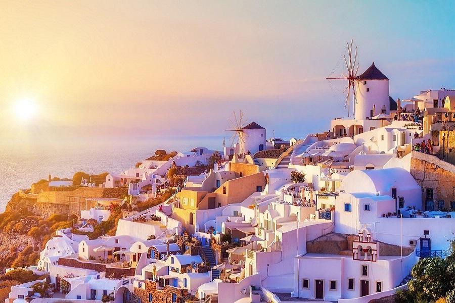 希臘 、米克諾斯+聖多里尼跳島、愛情海伊亞日落8日