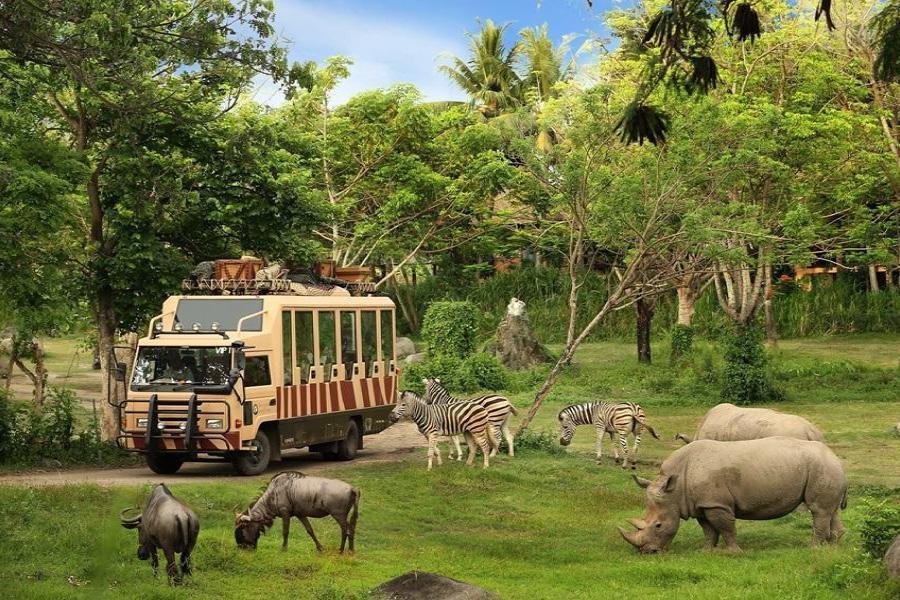 【峇里島包車自由行】狩獵小屋野生動物園 + 努沙杜瓦區5星度假酒店自由行5日(長榮/華航-贈一日包車遊)