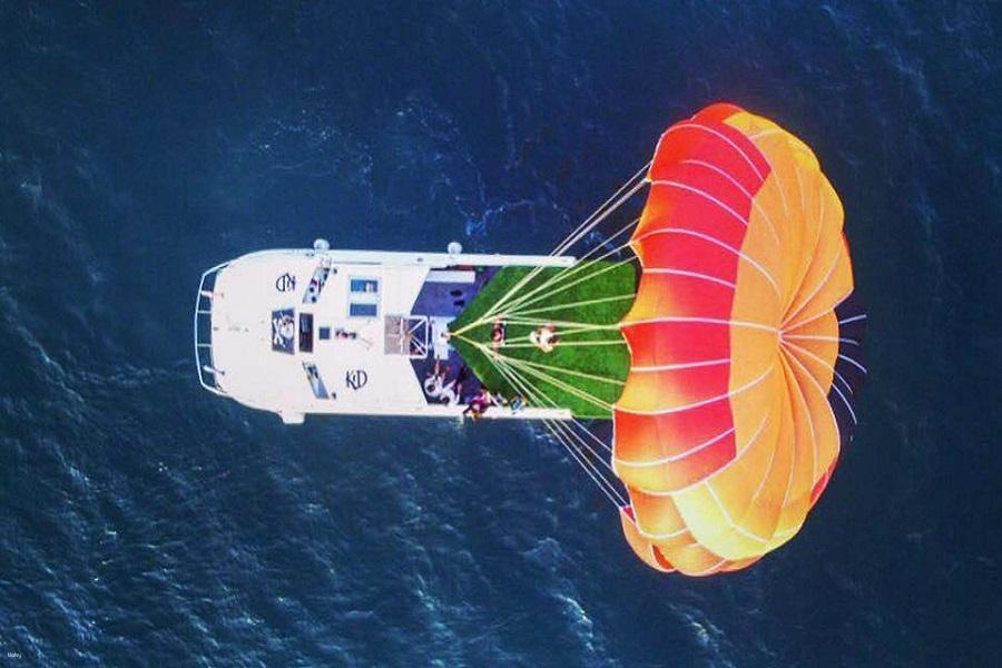 【澎湖】|水上活動推薦|海洋拖曳傘高空飛行體驗