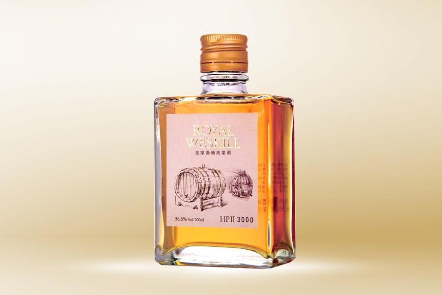 皇品學院精選二過桶高粱酒56.8度-200ML